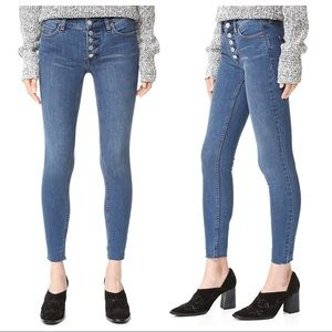 free people - reagan raw hem jeans button-fly crop